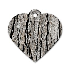 Tree Bark Dog Tag Heart (two Sides) by trendistuff