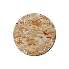 Osb Plywood Rubber Round Coaster (4 Pack)