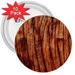 OLD BROWN WEATHERED WOOD 3  Buttons (10 pack)  Front