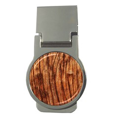 Old Brown Weathered Wood Money Clips (round)