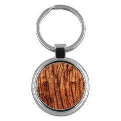 Old Brown Weathered Wood Key Chains (round)  by trendistuff