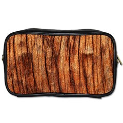 Old Brown Weathered Wood Toiletries Bags 2 Side by trendistuff
