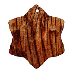 Old Brown Weathered Wood Snowflake Ornament (2 Side)