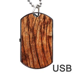 Old Brown Weathered Wood Dog Tag Usb Flash (two Sides)  by trendistuff