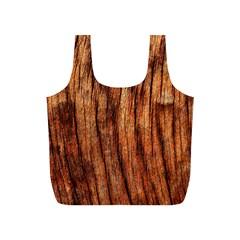 Old Brown Weathered Wood Full Print Recycle Bags (s)  by trendistuff