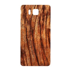 OLD BROWN WEATHERED WOOD Samsung Galaxy Alpha Hardshell Back Case by trendistuff