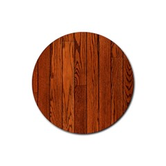 Oak Planks Rubber Coaster (round)  by trendistuff