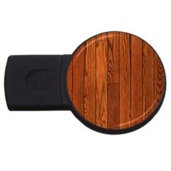 Oak Planks Usb Flash Drive Round (4 Gb)  by trendistuff