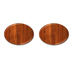 Oak Planks Cufflinks (oval) by trendistuff