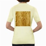 LIGHT WOOD FENCE Women s Yellow T-Shirt Back