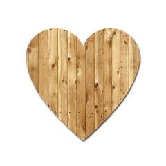 Light Wood Fence Heart Magnet by trendistuff