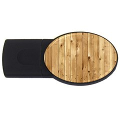 Light Wood Fence Usb Flash Drive Oval (2 Gb)  by trendistuff