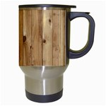 LIGHT WOOD FENCE Travel Mugs (White) Right