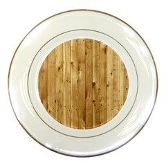 Light Wood Fence Porcelain Plates by trendistuff