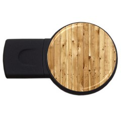 Light Wood Fence Usb Flash Drive Round (4 Gb)  by trendistuff