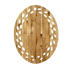 Light Wood Fence Ornament (oval Filigree)  by trendistuff
