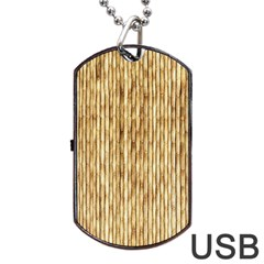 LIGHT BEIGE BAMBOO Dog Tag USB Flash (Two Sides)  by trendistuff