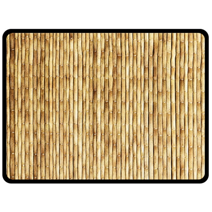 LIGHT BEIGE BAMBOO Double Sided Fleece Blanket (Large)