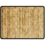 LIGHT BEIGE BAMBOO Double Sided Fleece Blanket (Large)  80 x60 Blanket Back