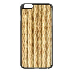 Light Beige Bamboo Apple Iphone 6 Plus/6s Plus Black Enamel Case by trendistuff
