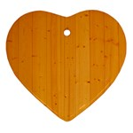 HONEY MAPLE Ornament (Heart)  Front