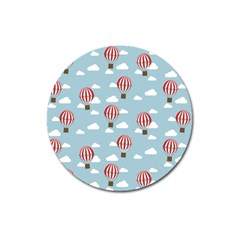 Hot Air Balloon Magnet 3  (round) by Kathrinlegg