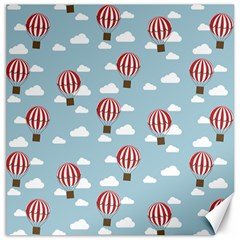 Hot Air Balloon Canvas 12  X 12   by Kathrinlegg