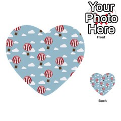 Hot Air Balloon Multi Purpose Cards (heart)  by Kathrinlegg
