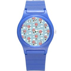 Hot Air Balloon Round Plastic Sport Watch (s) by Kathrinlegg