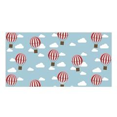 Hot Air Balloon Satin Shawl by Kathrinlegg