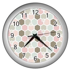 Spring Bee Wall Clocks (silver)  by Kathrinlegg