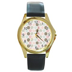 Spring Bee Round Gold Metal Watches by Kathrinlegg