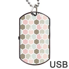 Spring Bee Dog Tag Usb Flash (one Side) by Kathrinlegg