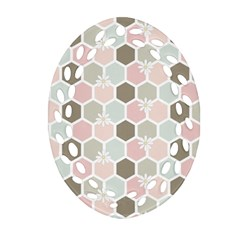Spring Bee Oval Filigree Ornament (2 Side)  by Kathrinlegg