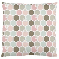Spring Bee Large Flano Cushion Cases (one Side)  by Kathrinlegg