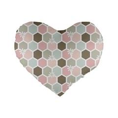 Spring Bee Standard 16  Premium Flano Heart Shape Cushions by Kathrinlegg