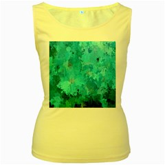 Splashes Of Color, Aqua Women s Yellow Tank Tops by MoreColorsinLife