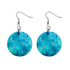 Splashes Of Color, Aqua Mini Button Earrings by MoreColorsinLife