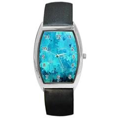 Splashes Of Color, Aqua Barrel Metal Watches by MoreColorsinLife