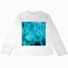 Splashes Of Color, Aqua Kids Long Sleeve T Shirts by MoreColorsinLife