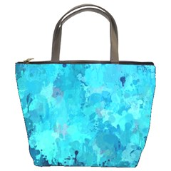 Splashes Of Color, Aqua Bucket Bags by MoreColorsinLife