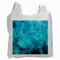 Splashes Of Color, Aqua Recycle Bag (one Side) by MoreColorsinLife