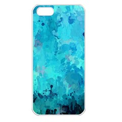 Splashes Of Color, Aqua Apple Iphone 5 Seamless Case (white) by MoreColorsinLife