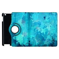Splashes Of Color, Aqua Apple Ipad 2 Flip 360 Case by MoreColorsinLife