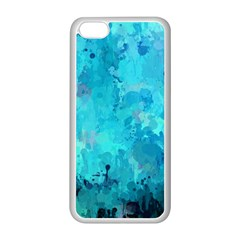 Splashes Of Color, Aqua Apple Iphone 5c Seamless Case (white) by MoreColorsinLife