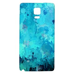 Splashes Of Color, Aqua Galaxy Note 4 Back Case by MoreColorsinLife