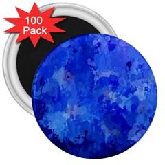 Splashes Of Color, Blue 3  Magnets (100 Pack) by MoreColorsinLife