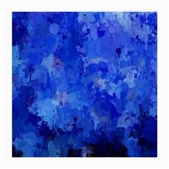 Splashes Of Color, Blue Medium Glasses Cloth (2 Side) by MoreColorsinLife