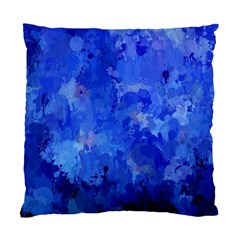 Splashes Of Color, Blue Standard Cushion Case (one Side)  by MoreColorsinLife