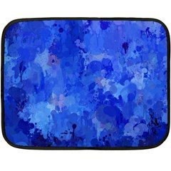 Splashes Of Color, Blue Double Sided Fleece Blanket (mini)  by MoreColorsinLife
